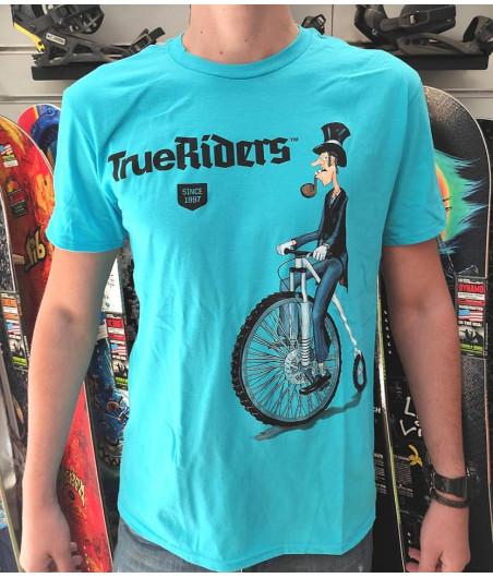 Тениска OLD BIKER - Синя