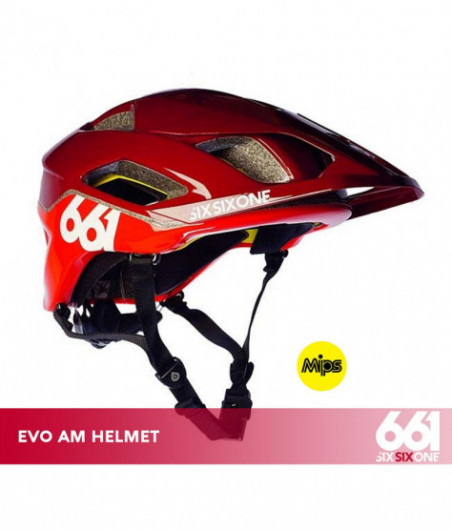 661 EVO AM MIPS CE MATADOR RED